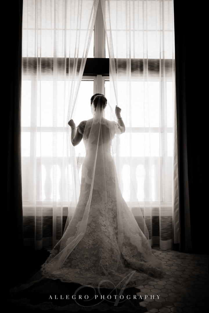 unique bridal portrait at the hotel commonwealth - photo by allegro photography