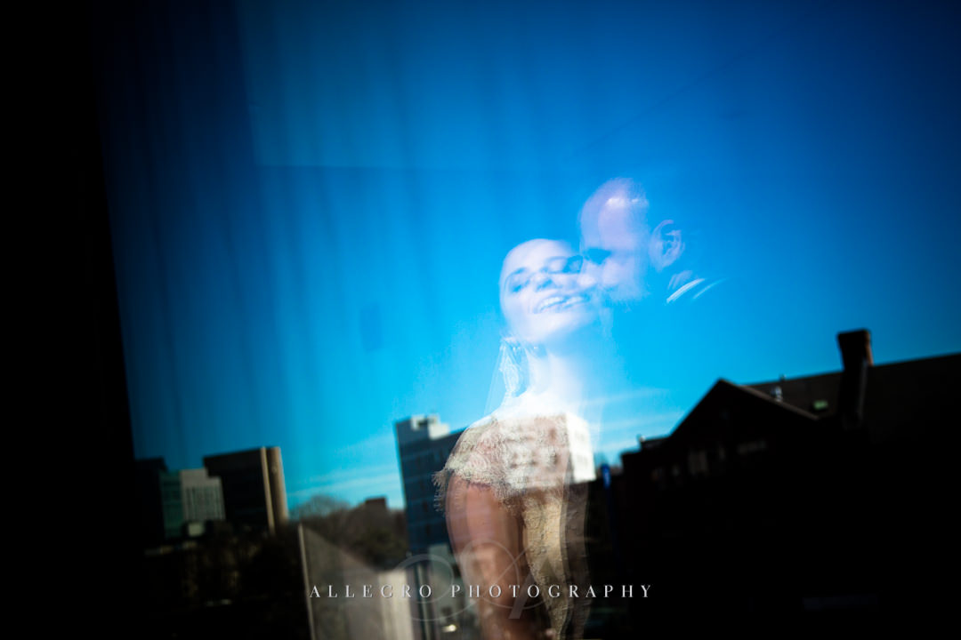 vogue wedding kiss boston - photo by allegro photography