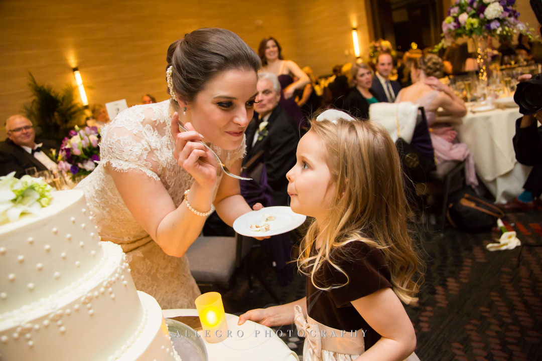 sweet moment at boston commonwealth wedding - photo by allegro photography