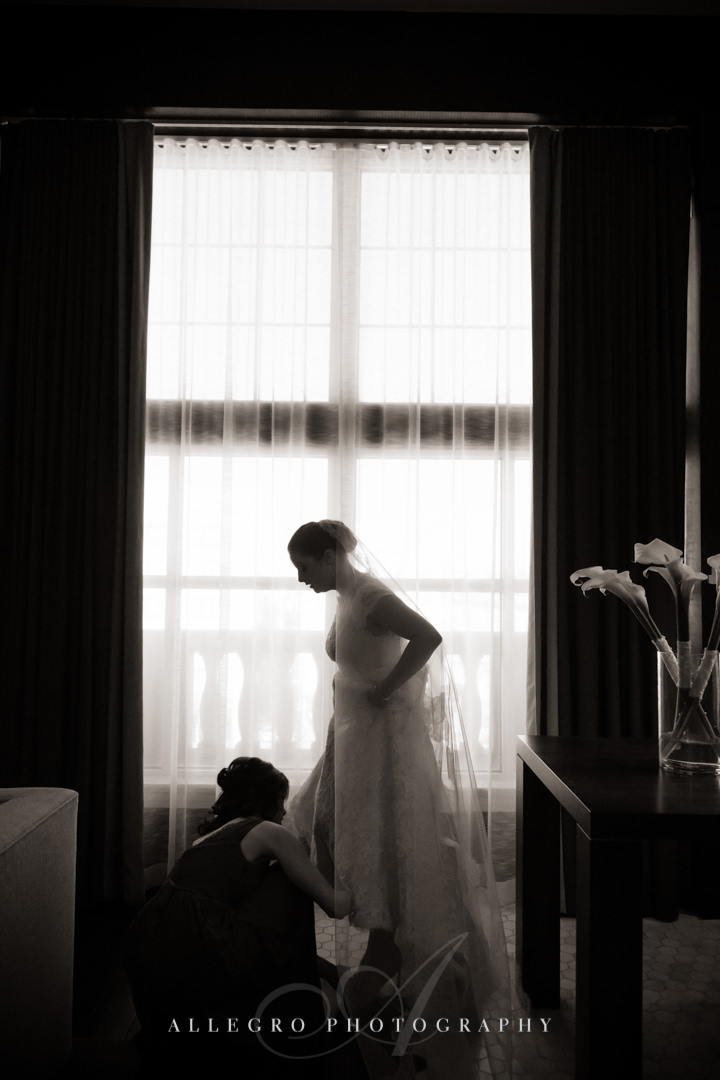 bridal portrait at the hotel commonwealth - photo by allegro photography