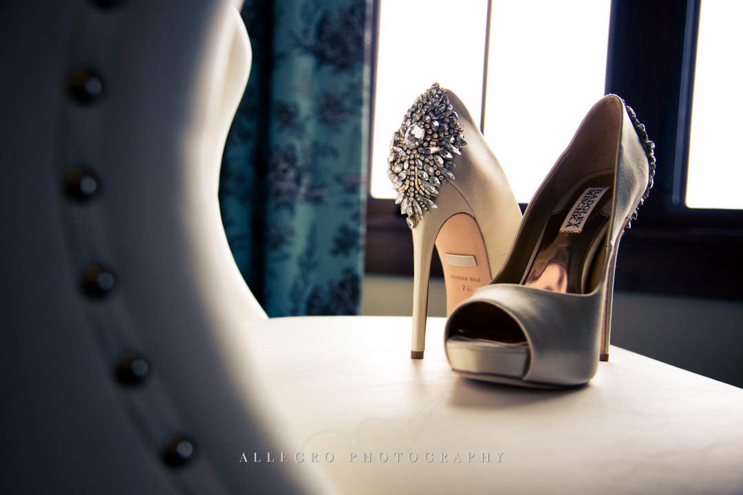 mirbeau inn & spa wedding shoes - photo by allegro photography