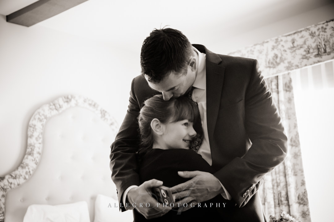 groom and his daughter at mirbeau inn & spa - photo by allegro photography