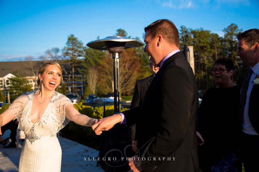 bride and groom dance at mirbeau inn & spa - photo by allegro photography