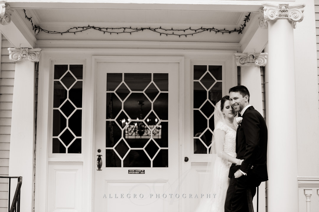 pierce house wedding portrait - photo by allegro photography