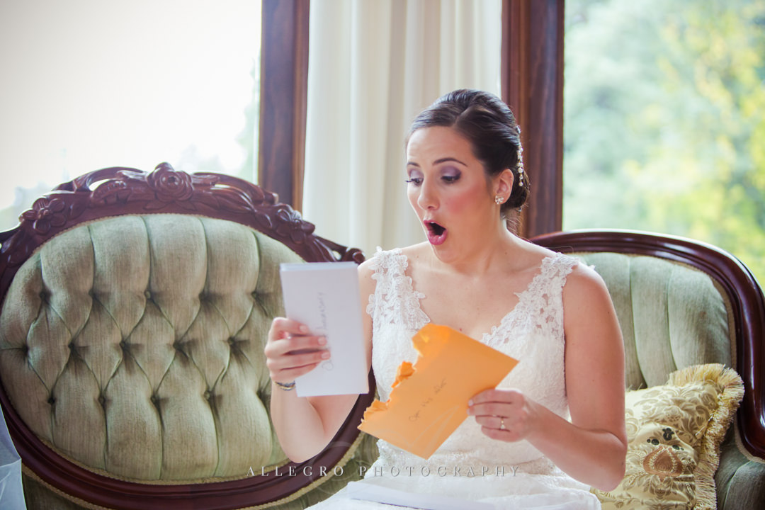 wedding day love letter stevens estate - photo by allegro photography