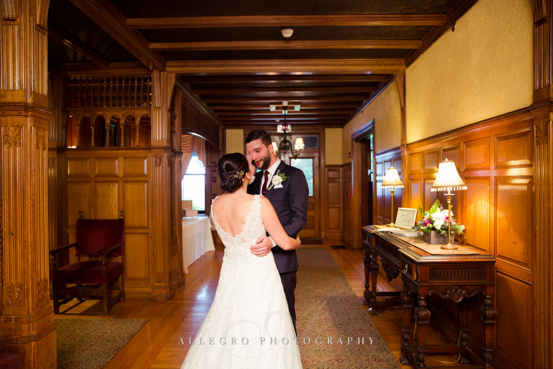 bride and groom at the stevens estate - photo by allegro photography