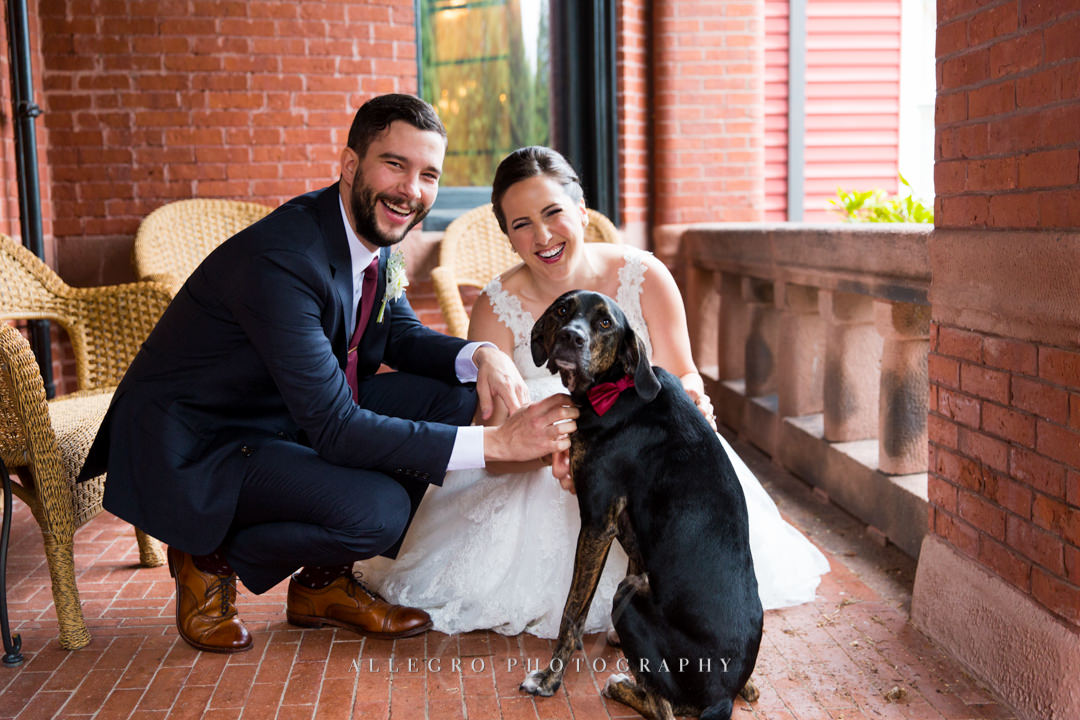 dog at boston wedding - photo by allegro photography