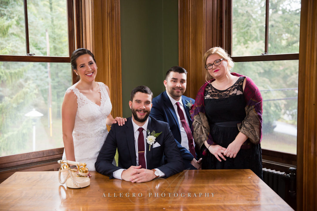 wedding portraits at the stevens estate - photo by allegro photography