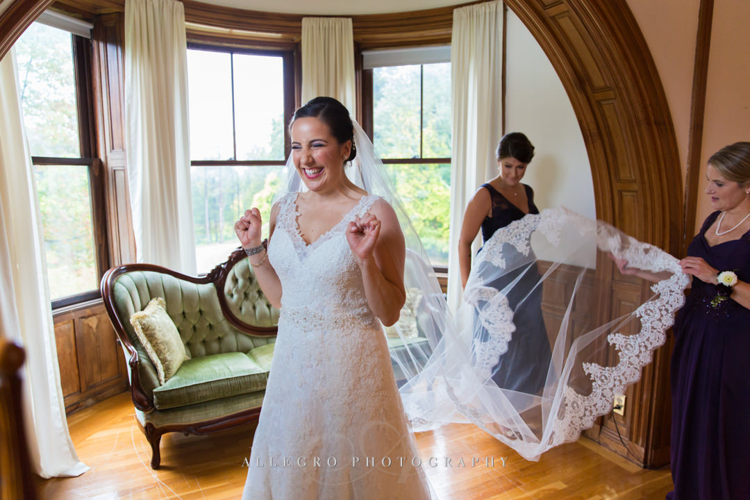 excited bride getting ready - photo by allegro photography