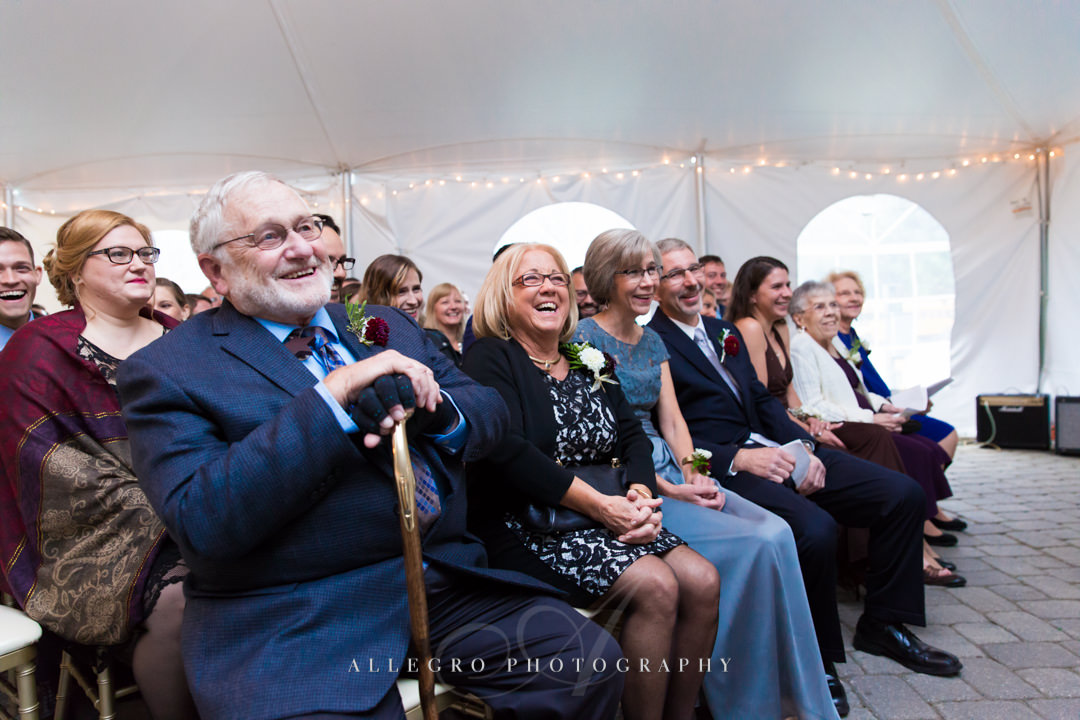 wedding laughs at the stevens estate - photo by allegro photography