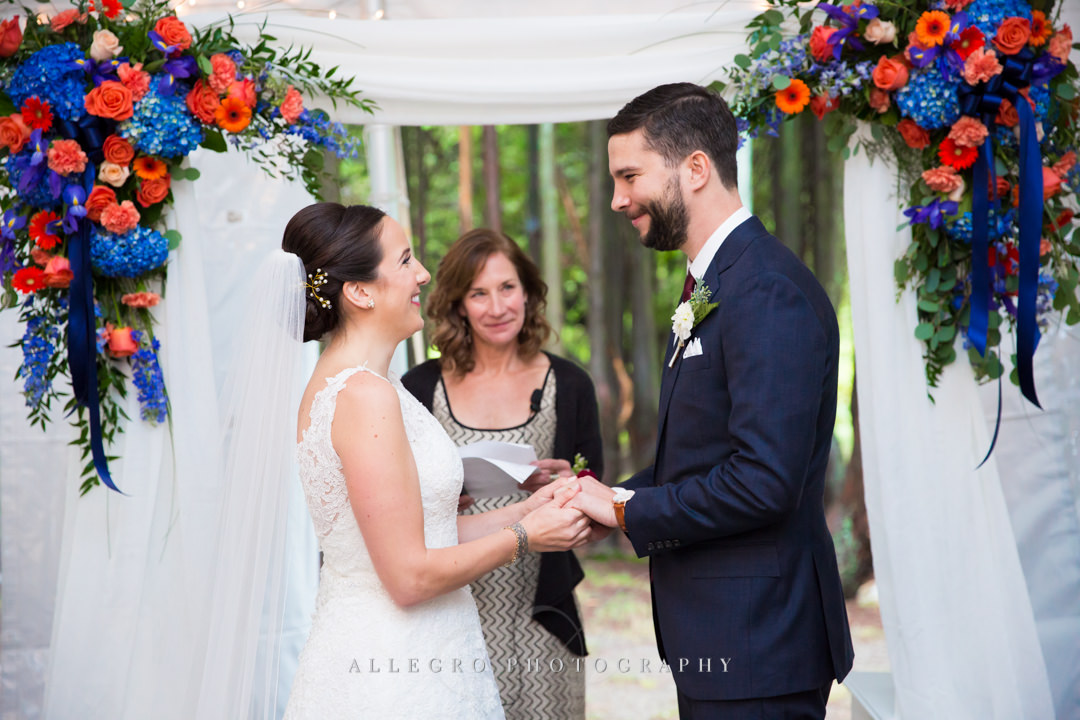 wedding vows at the stevens estate - photo by allegro photography