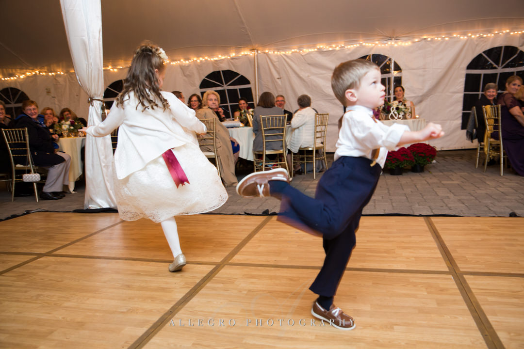 kids dance at stevens estate wedding - photo by allegro photography