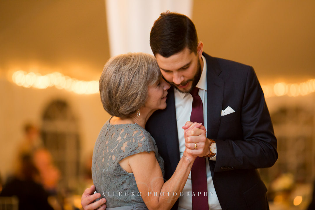 mother and son dance at stevens estate wedding - photo by allegro photography