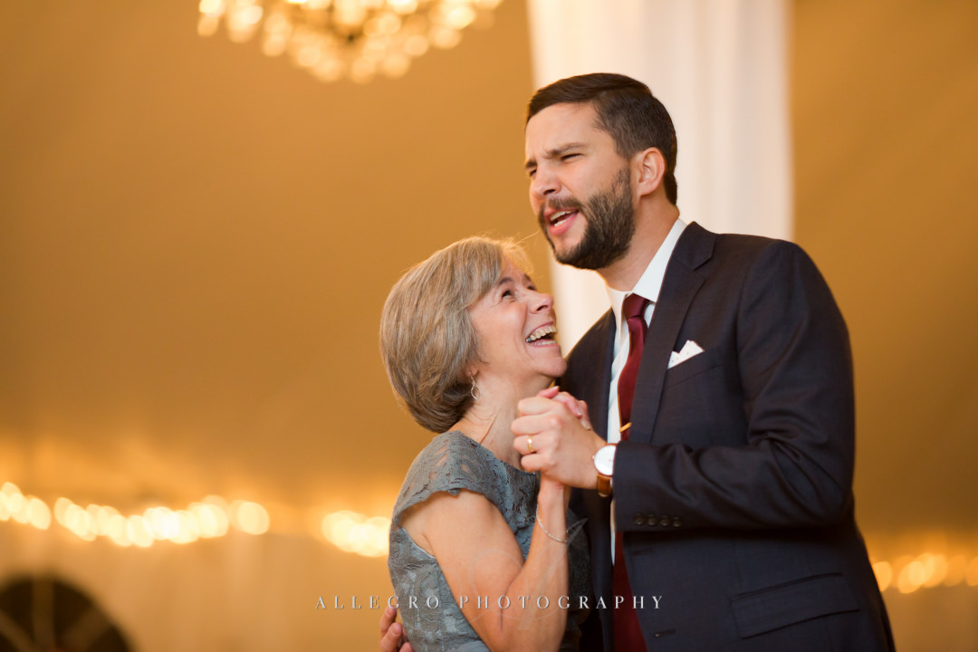 mother and son dance at boston wedding - photo by allegro photography