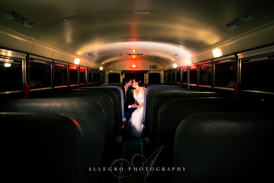 high school sweethearts wedding day kiss - photo by allegro photography