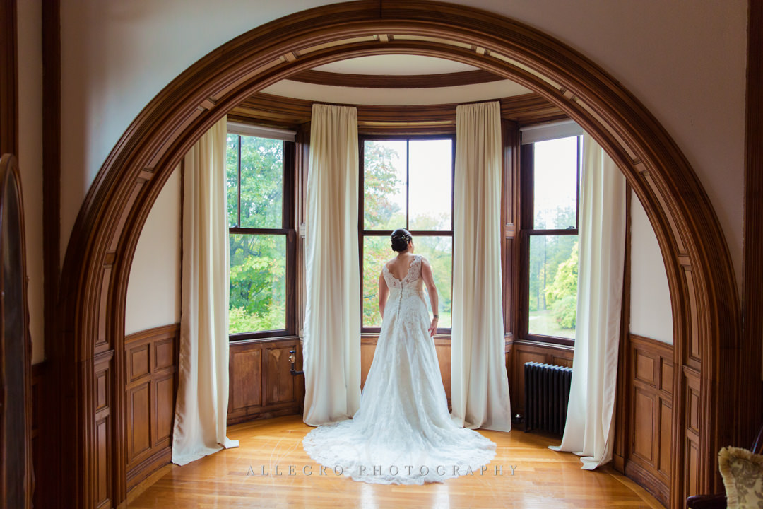 bridal portrait at the stevens estate - photo by allegro photography