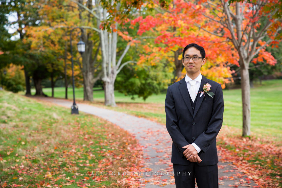 fall groom portrait boston - photo by allegro photography