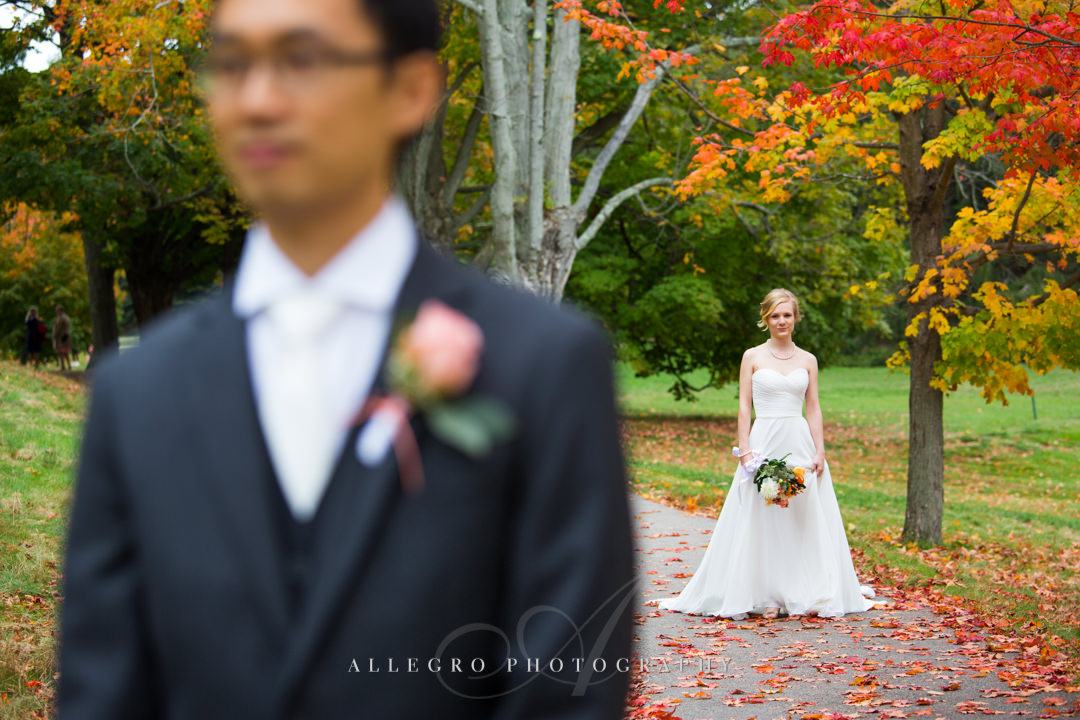 fall wedding in boston - photo by allegro photography