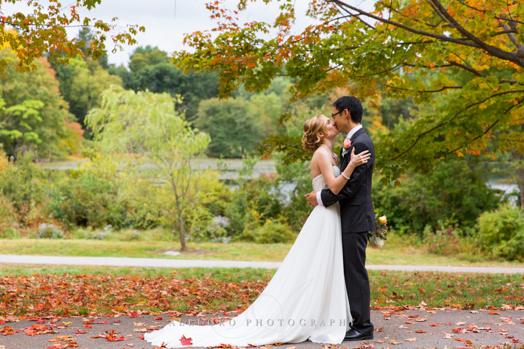 fall wedding portrait boston - photo by allegro photography