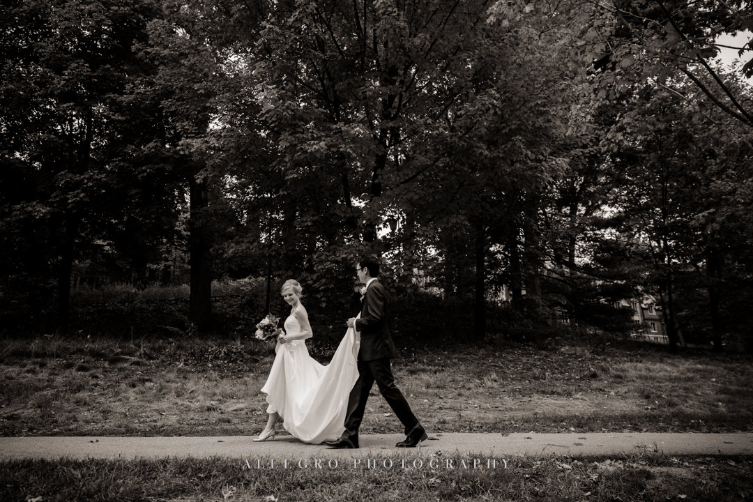 black and white wedding portrait boston - photo by allegro photography