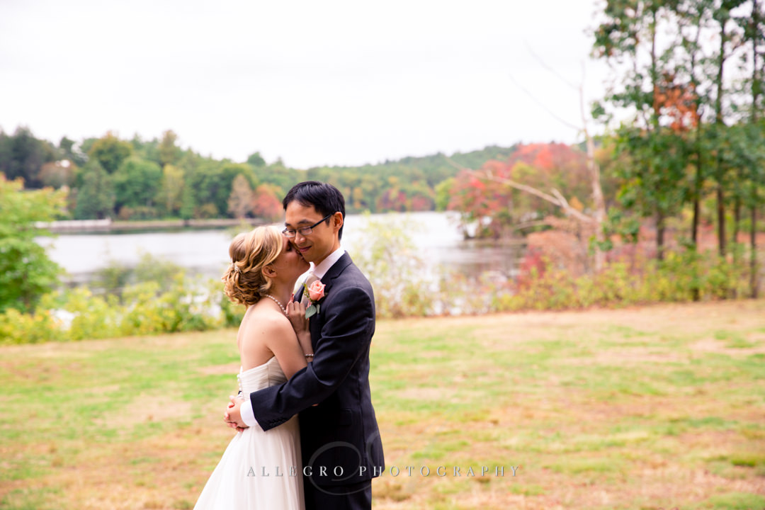fall wedding portrait in wellesley - photo by allegro photography