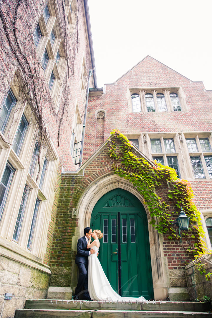 wellesley college wedding portrait - photo by allegro photography