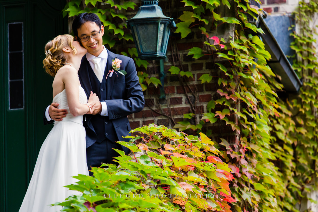 wellesley college bride and groom - photo by allegro photography