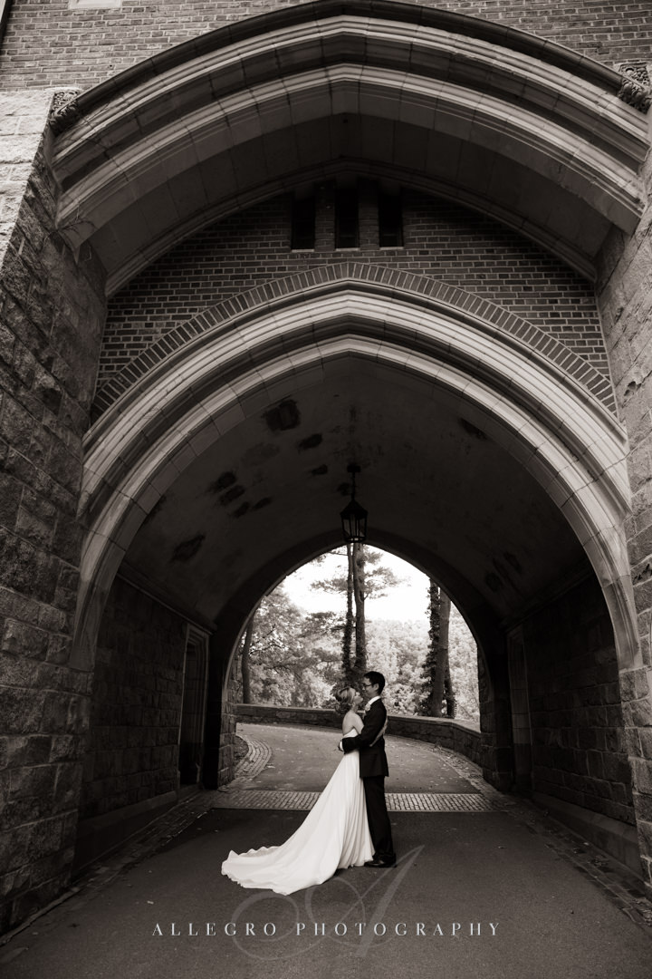 fall wellesley college wedding - photo by allegro photography