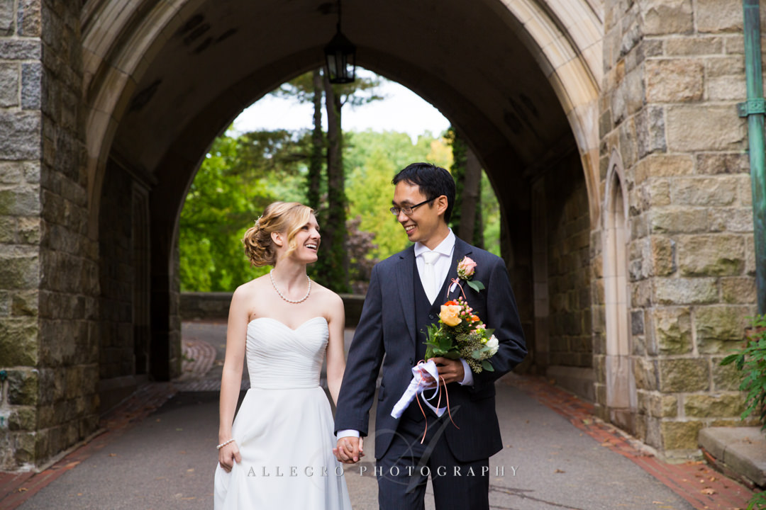 fall wedding at wellesley college - photo by allegro photography