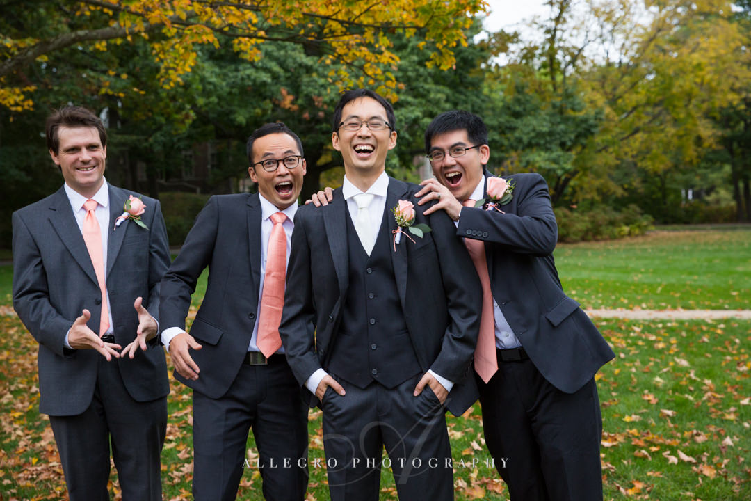 wellelsey college groomsmen - photo by allegro photography
