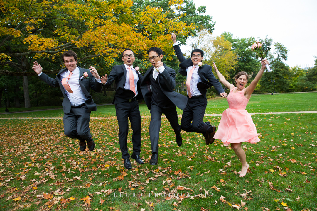 goofy wedding party at wellesley college - photo by allegro photography