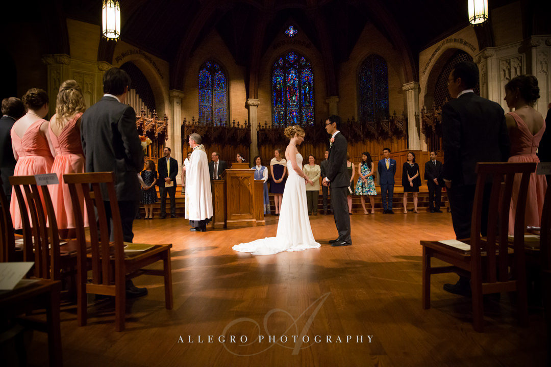 houghton chapel wedding at wellesley college - photo by allegro photography