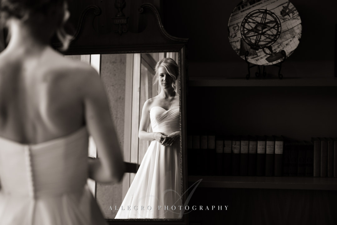 unique bridal portrait at the wellesley college club - photo by allegro photography
