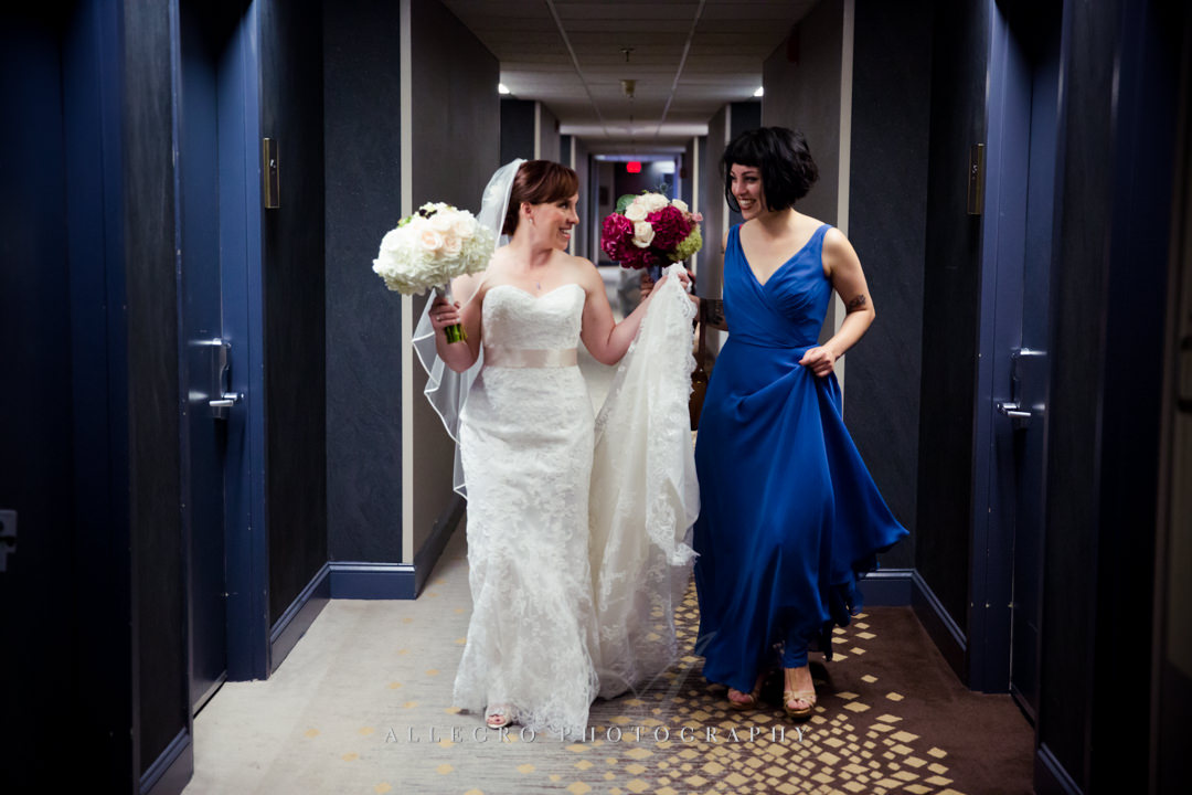 royal blue wedding - photo by allegro photography