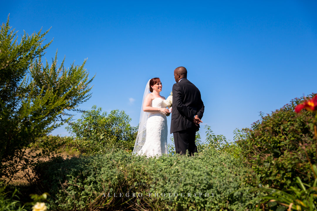 cape cod grooms first look - photo by allegro photography