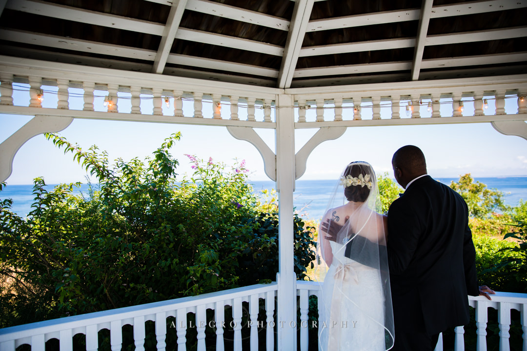cape cod bride and groom - photo by allegro photography