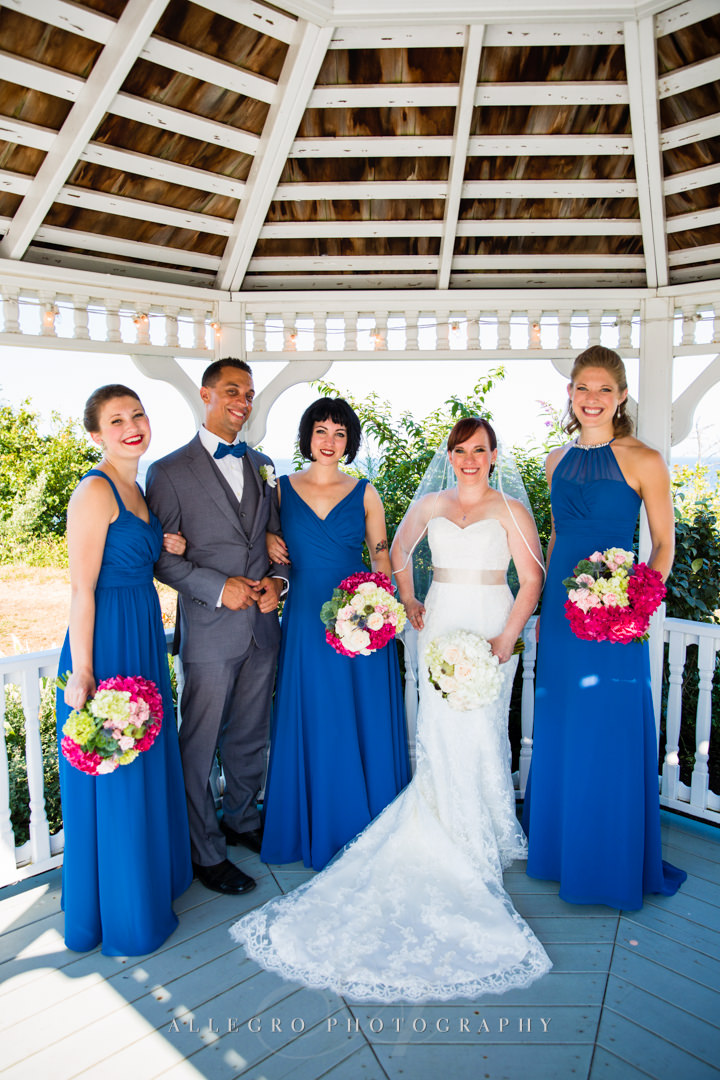 mixed gender wedding party - photo by allegro photography