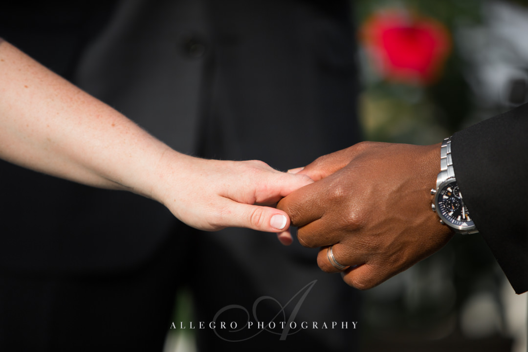 multiracial couple wedding - photo by allegro photography