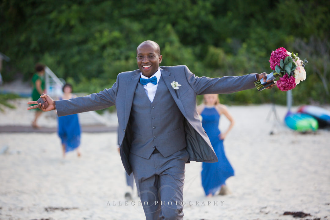 beach best man - photo by allegro photography