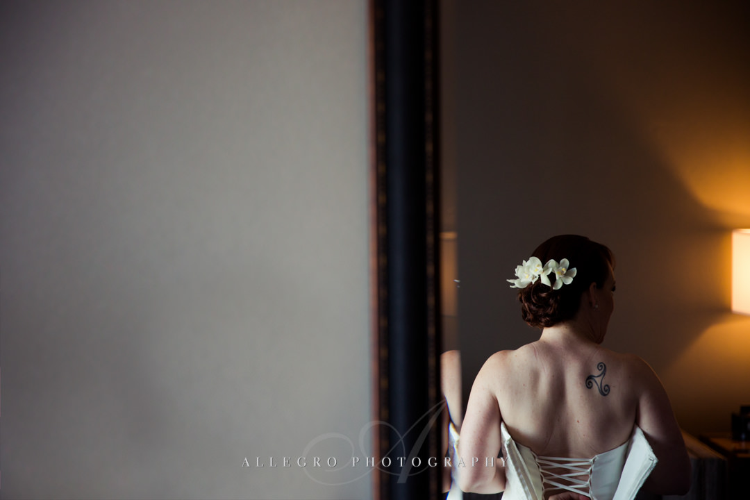 bridal details, corset - photo by allegro photography