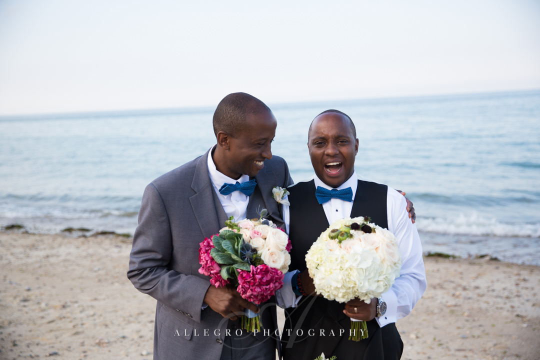 goofy groom and best man - photo by allegro photography