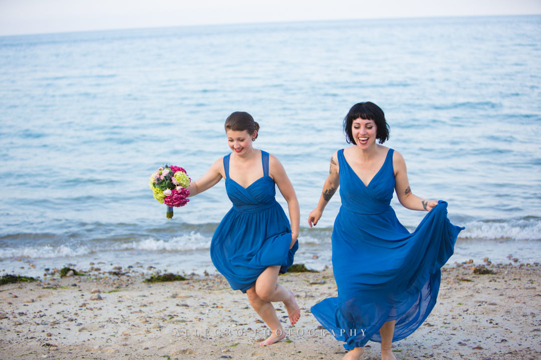 beach bridesmaid dresses - photo by allegro photography