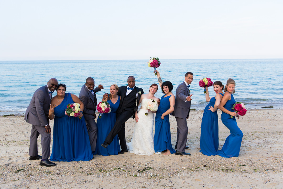 cape cod wedding party - photo by allegro photography