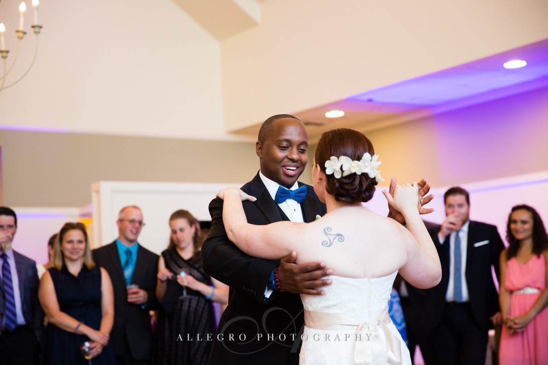 cape cod wedding first dance - photo by allegro photography