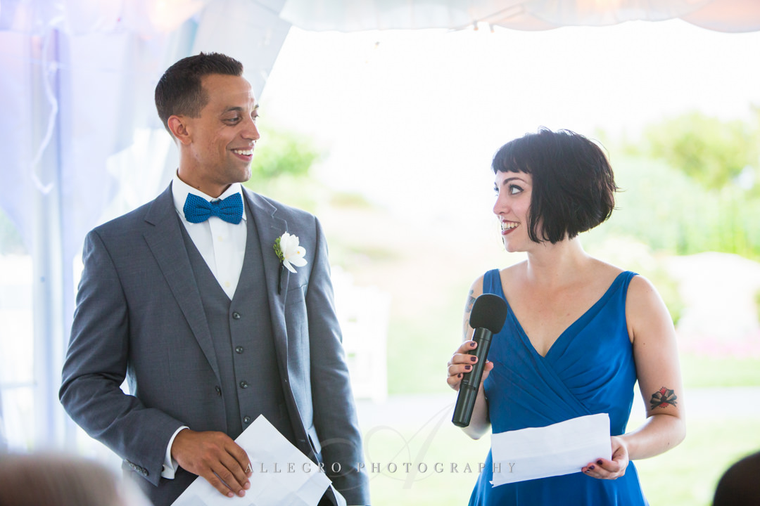 cape cod reception - photo by allegro photography
