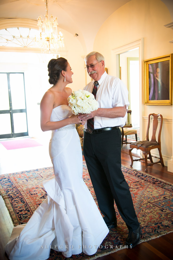 bride and father of the bride boston - photographed by allegro photography