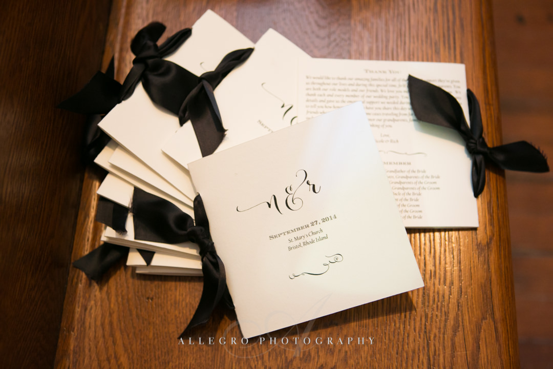 wedding invitation boston - Photographed by Allegro Photography