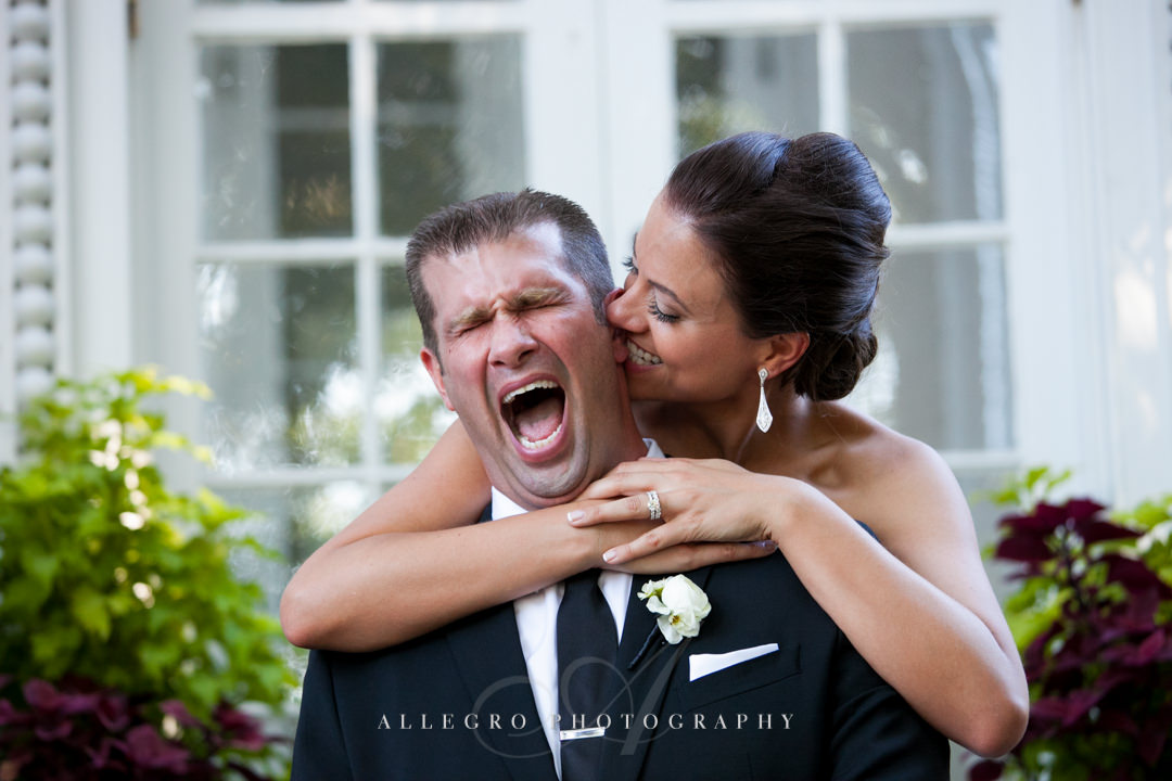 goofy bride and groom bristol RI - photographed by allegro photography