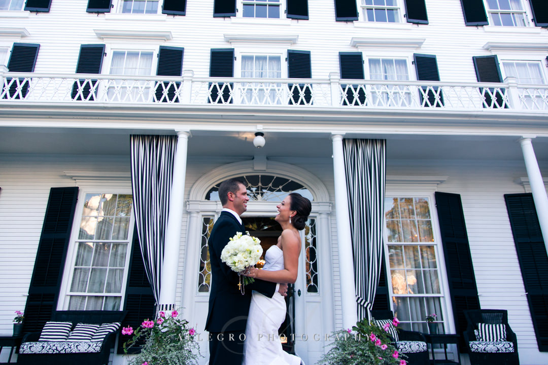 wedding portrait linden place - photographed by allegro photography