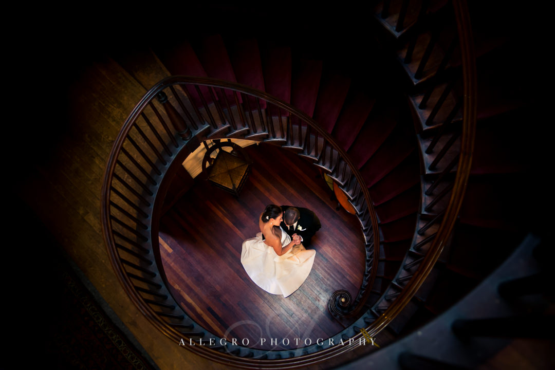 unique wedding portrait linden place - photographed by allegro photography